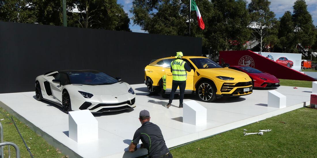 Lamborghini Aventador - Lamborghini Urus - GP Australien 2018 - Melbourne - Albert Park - Mittwoch - 21.3.2018