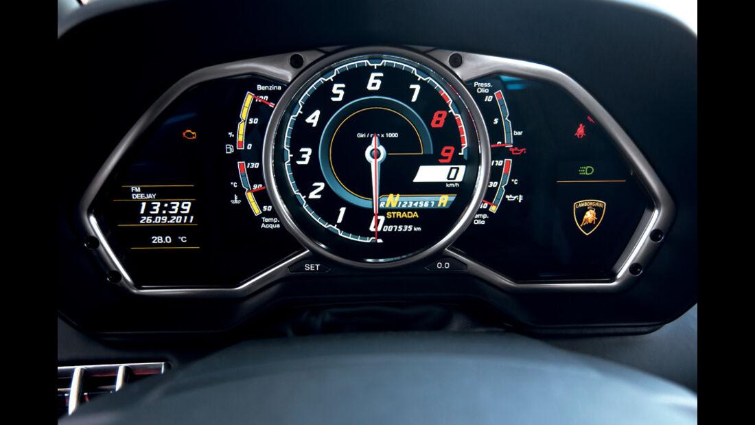 Lamborghini Aventador, Rundinstrumente