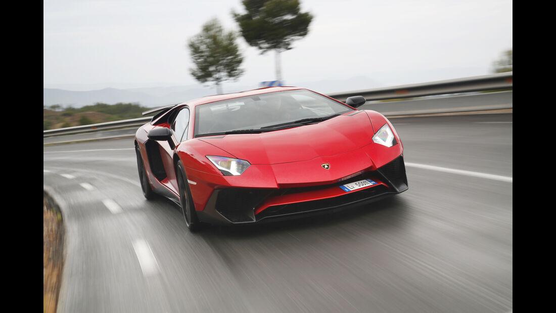 Lamborghini Aventador SV 2015, Front, Fahrt