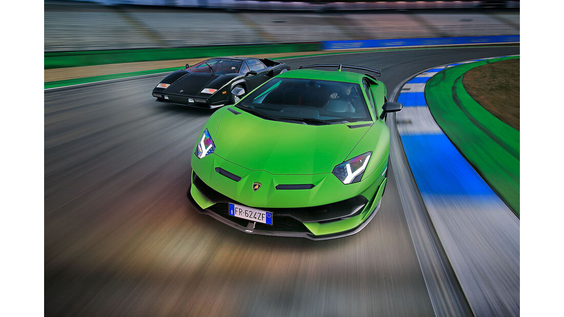 Lamborghini Aventador SVJ, Countach und Aventador