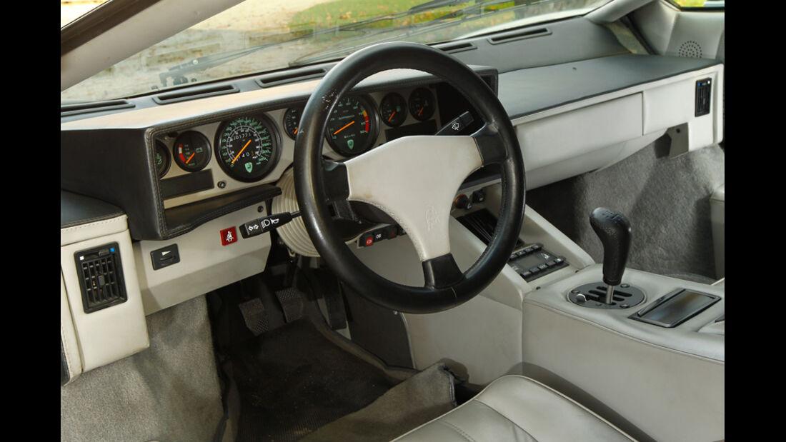 Lamborghini Countach Anniversario, Cockpit, Lenkrad