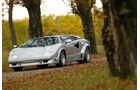 Lamborghini Countach Anniversario, Frontansicht, schräg, Park