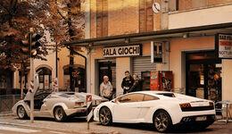Lamborghini Countach, Lamboghini Gallardo LP 550-2, Seitenansicht