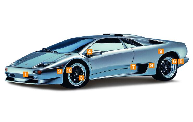 Lamborghini Diablo, Schwachstellen, Igelbild
