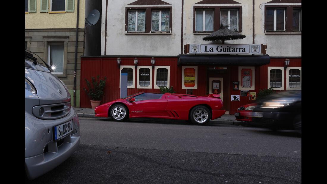 Lamborghini Diablo, Seitenansicht