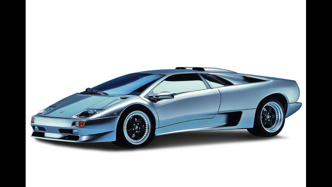 Lamborghini Diablo VT Roadster, Grafik, Zeichnung