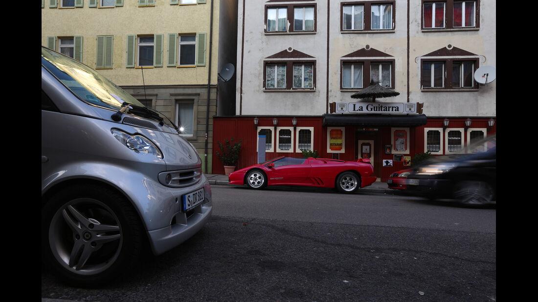 Lamborghini Diablo VT Roadster, Seitenansicht