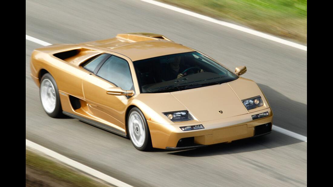 Lamborghini Diabolo 6.0 S.E., Frontansicht, Überlandfahrt, schräg