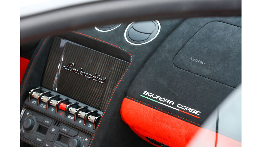 Lamborghini Gallardo LP 570-4 Squadra Corse, Bedienelemente