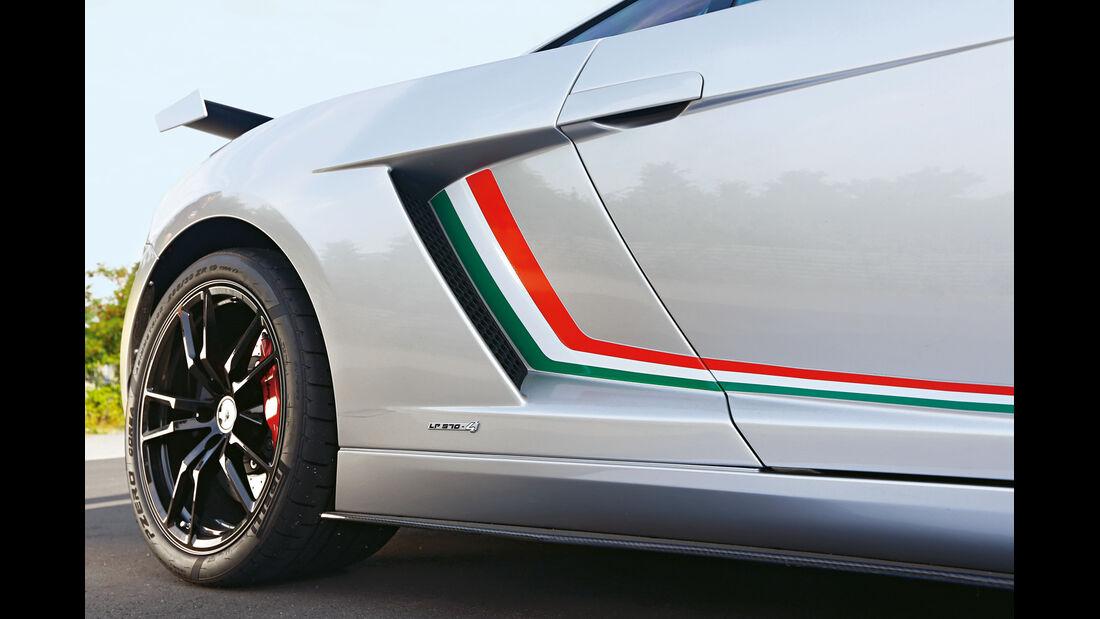 Lamborghini Gallardo LP 570-4 Squadra Corse, Seitenlinie