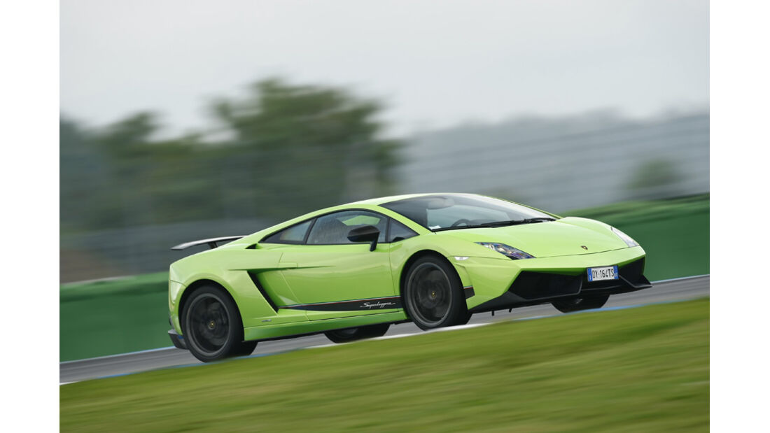 Lamborghini Gallardo LP 570-4 Superleggera, Frontansicht, Rennstrecke
