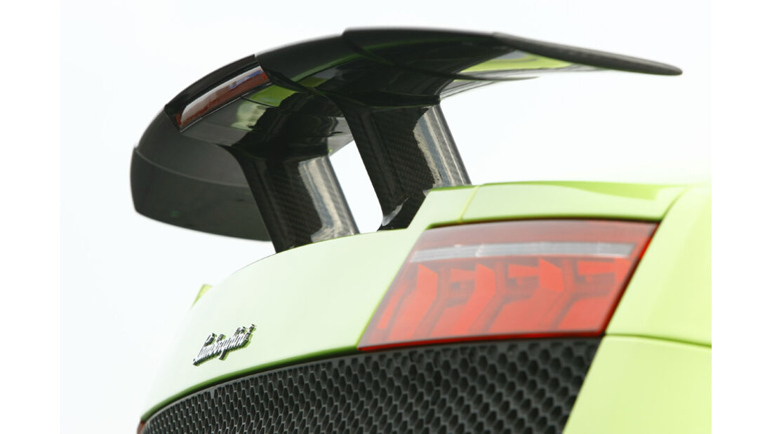 Lamborghini Gallardo LP 570-4 Superleggera, Heckspoiler, Heck, Detail