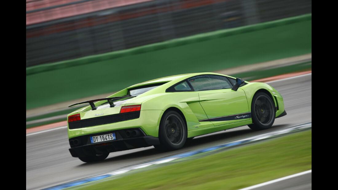 Lamborghini Gallardo LP 570-4 Superleggera, Rückansicht, Rennstrecke