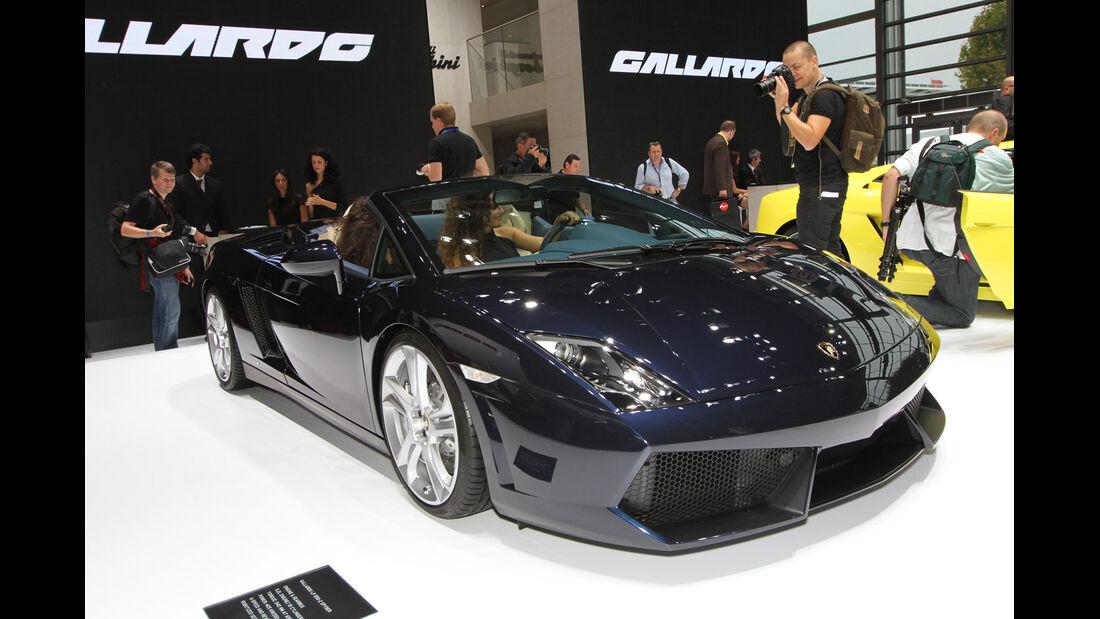 Lamborghini Gallardo LP550-2 Spyder, Messe, Autosalon Paris 2012