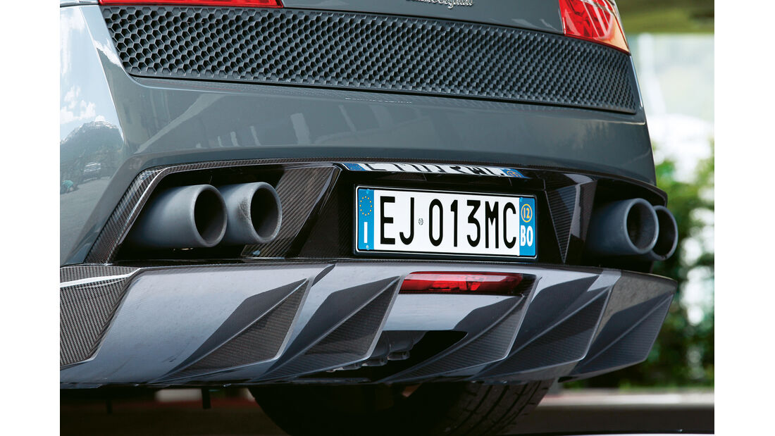 Lamborghini Gallardo Spyder Performante, Auspuff, Endrohre