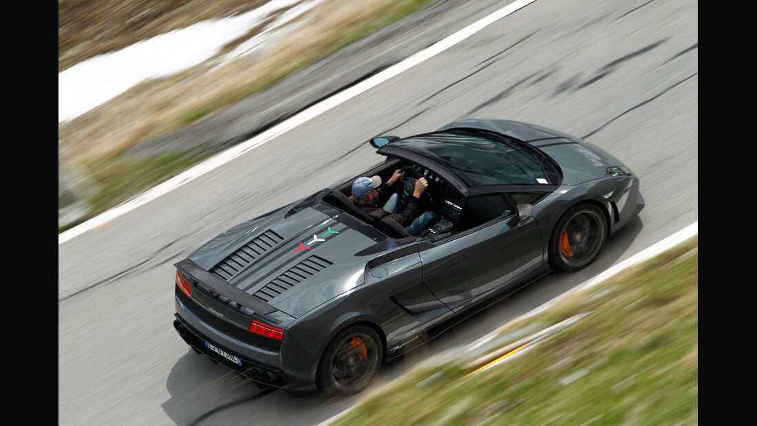 Lamborghini Gallardo Spyder Performante, Draufsicht