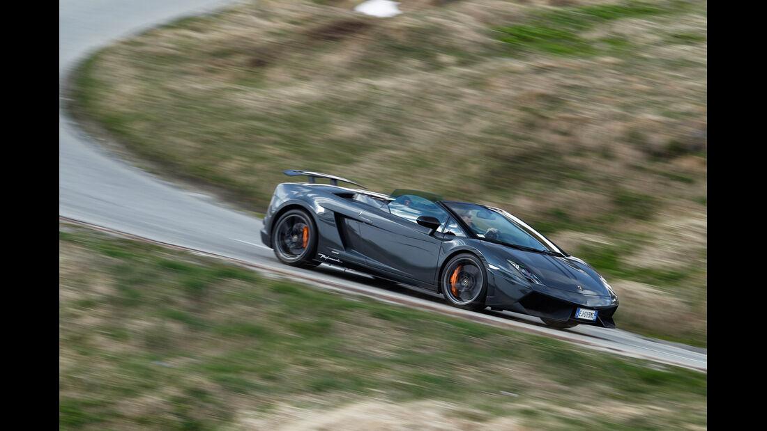 Lamborghini Gallardo Spyder Performante, Seitenansicht