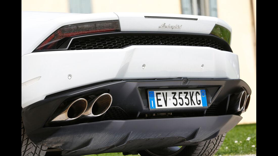 Lamborghini Huracán, Auspuff, Endrohre