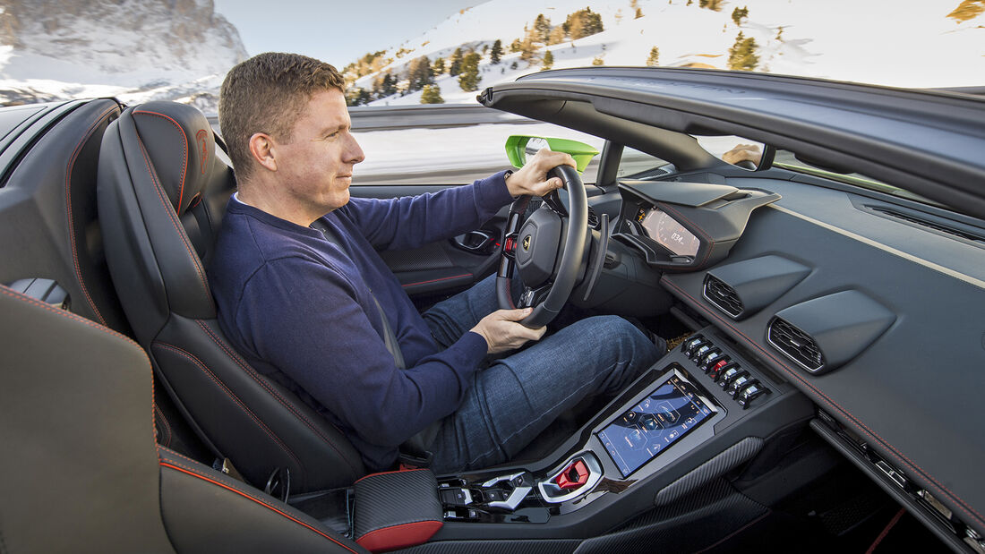 Lamborghini Huracán Evo Spyder, Interieur
