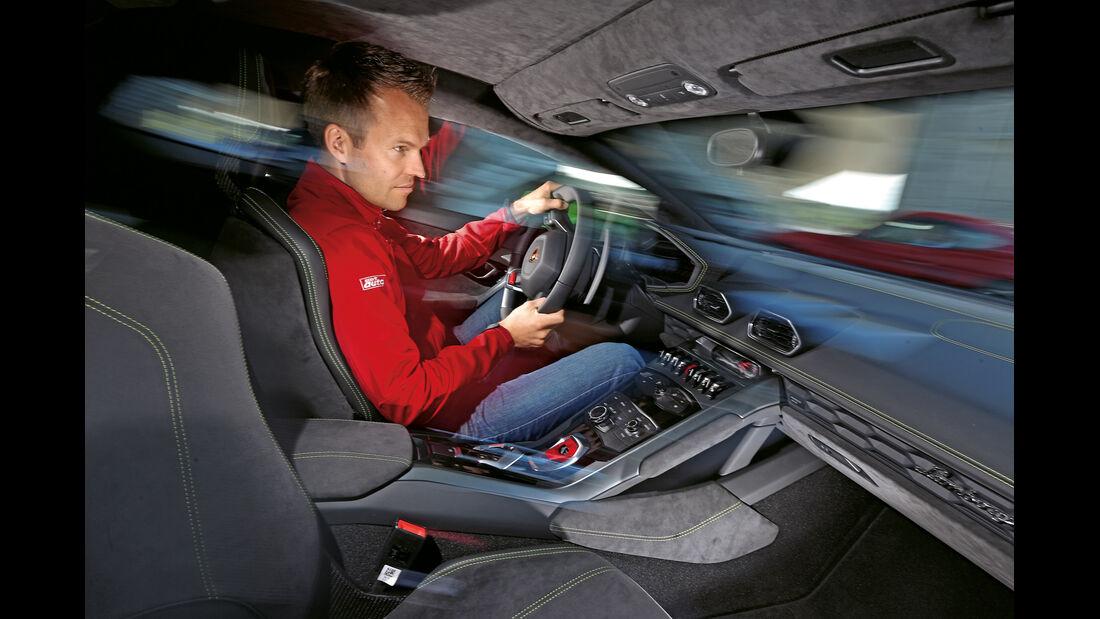 Lamborghini Huracán LP 610-4, Cockpit, Fahrersicht