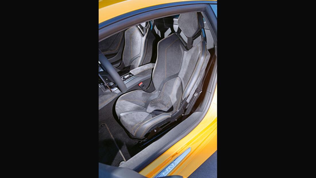 Lamborghini Huracán LP 610-4, Fahrersitz