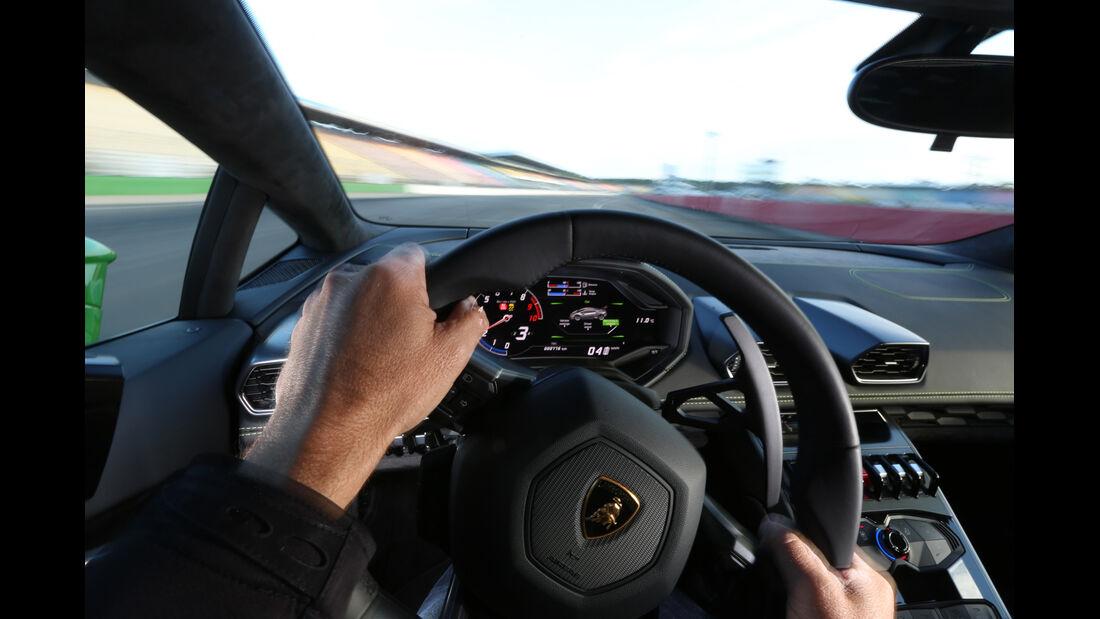 Lamborghini Huracán LP 610-4, Lenkrad, Fahrersicht