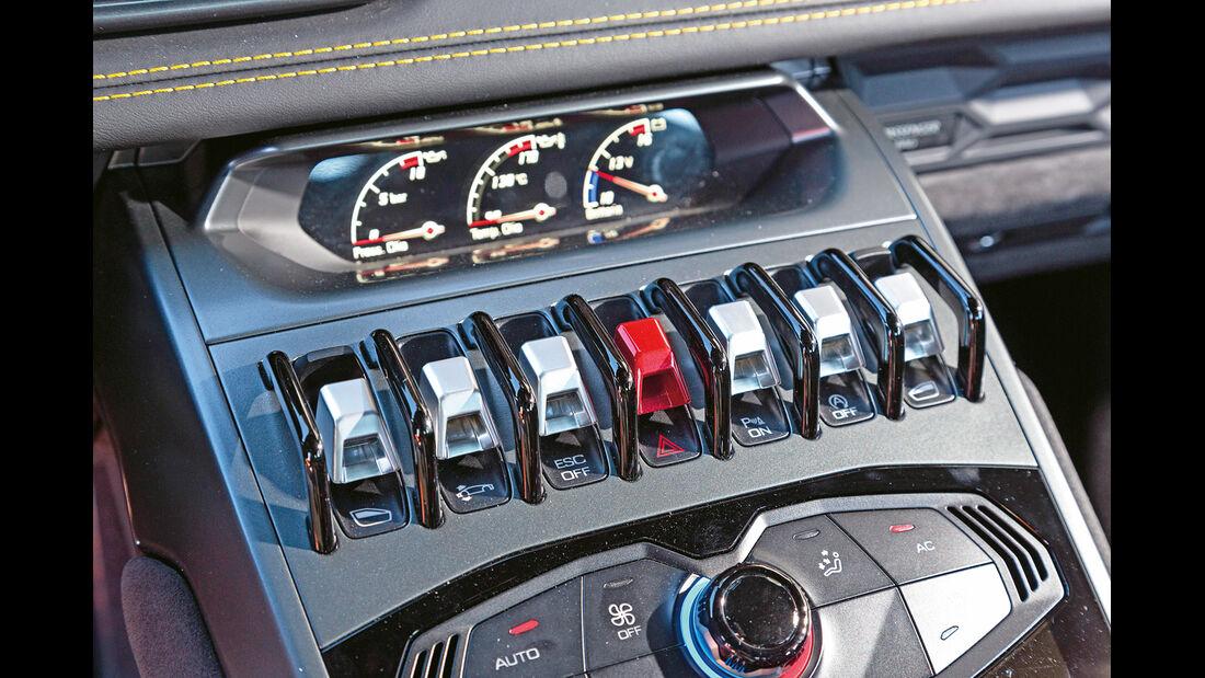 Lamborghini Huracán LP 610-4, Mittelkonsole, Bedienelemente