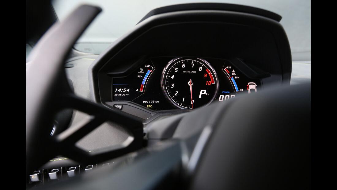 Lamborghini Huracán LP 610-4, Rundinstrumente