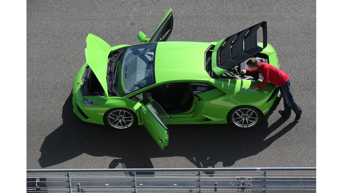 Lamborghini Huracán LP 610-4, Türen, Draufsicht