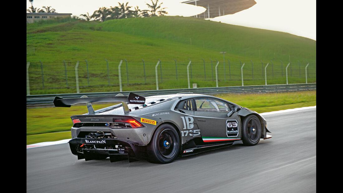Lamborghini Huracán LP 620-2 Super Trofeo, Heckansicht