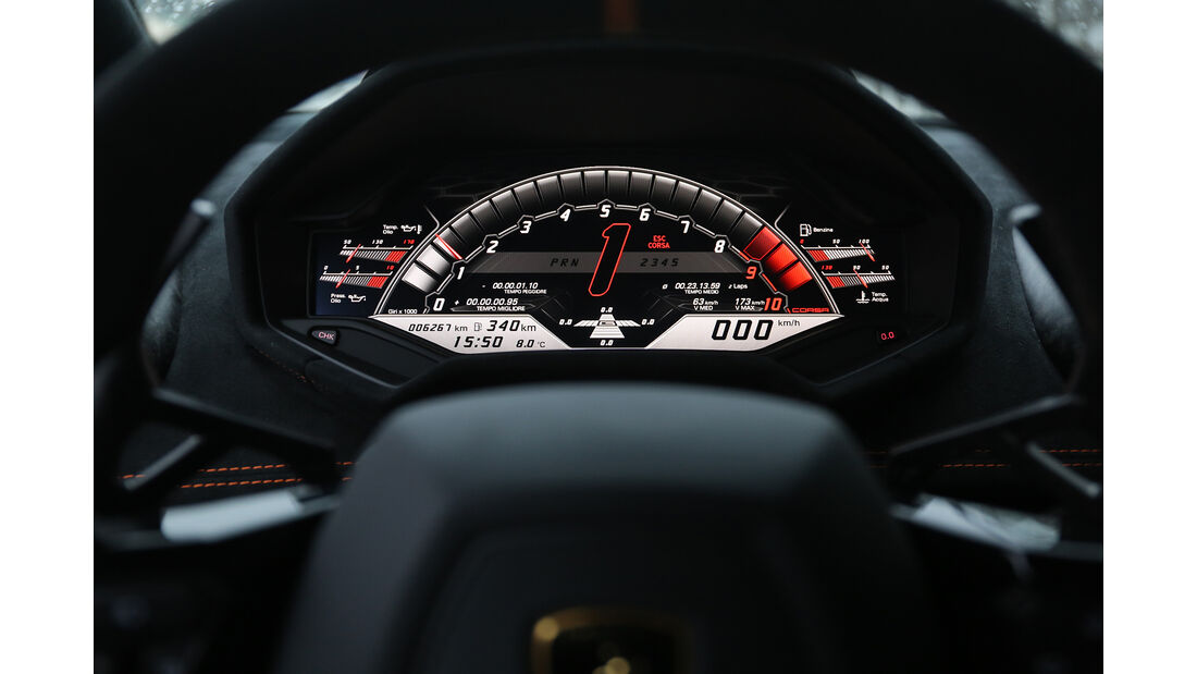 Lamborghini Huracán Performante, Interieur