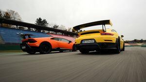 Lamborghini Huracán Performante, Porsche 911 GT2 RS, Exterieur