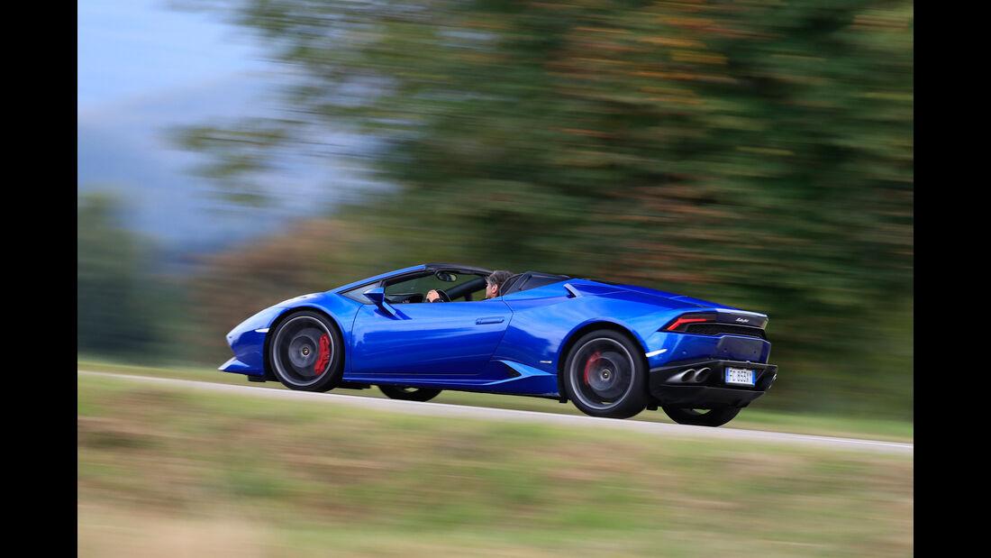 Lamborghini Huracán Spyder, Seitenansicht