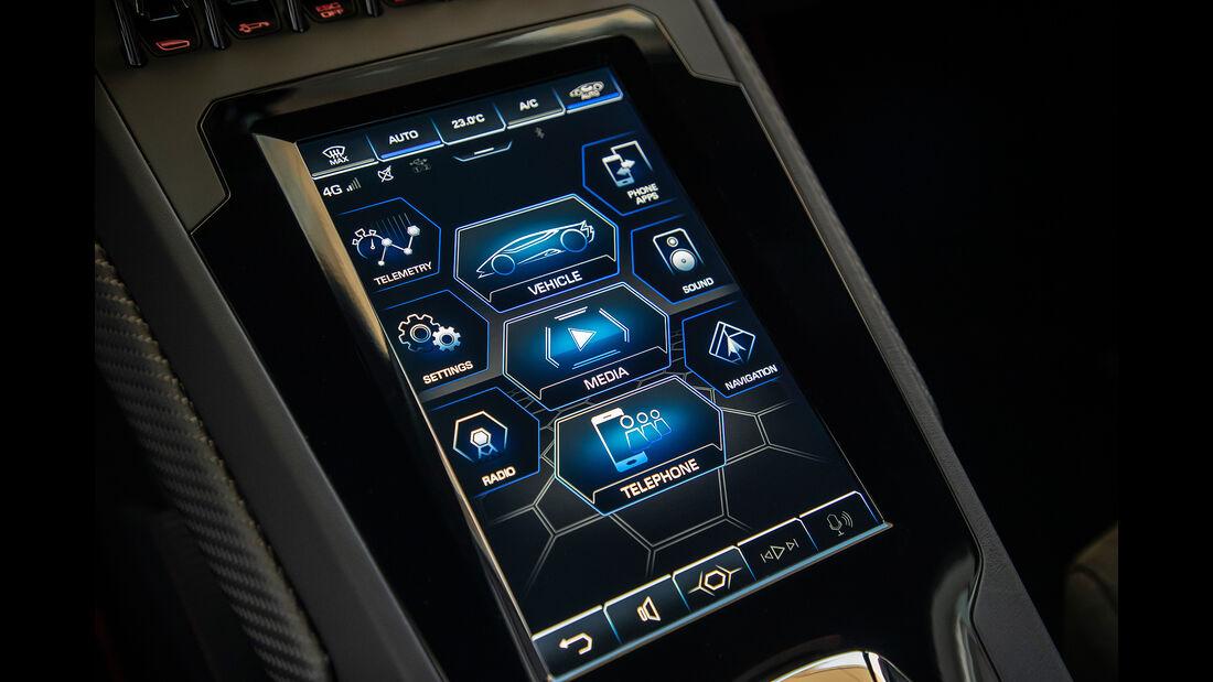 Lamborghini Huracan Evo, Infotainment, Touchscreen