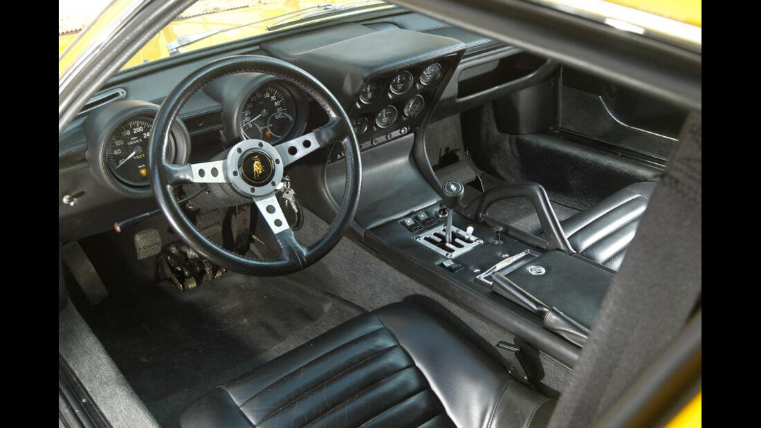 Lamborghini Miurca SV, Cockpit, Fahrersitz