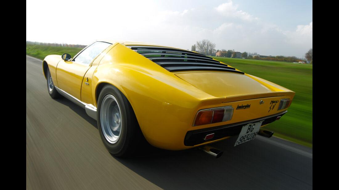 Lamborghini Miurca SV, Seitenansicht, Seite, Überlandfahrt