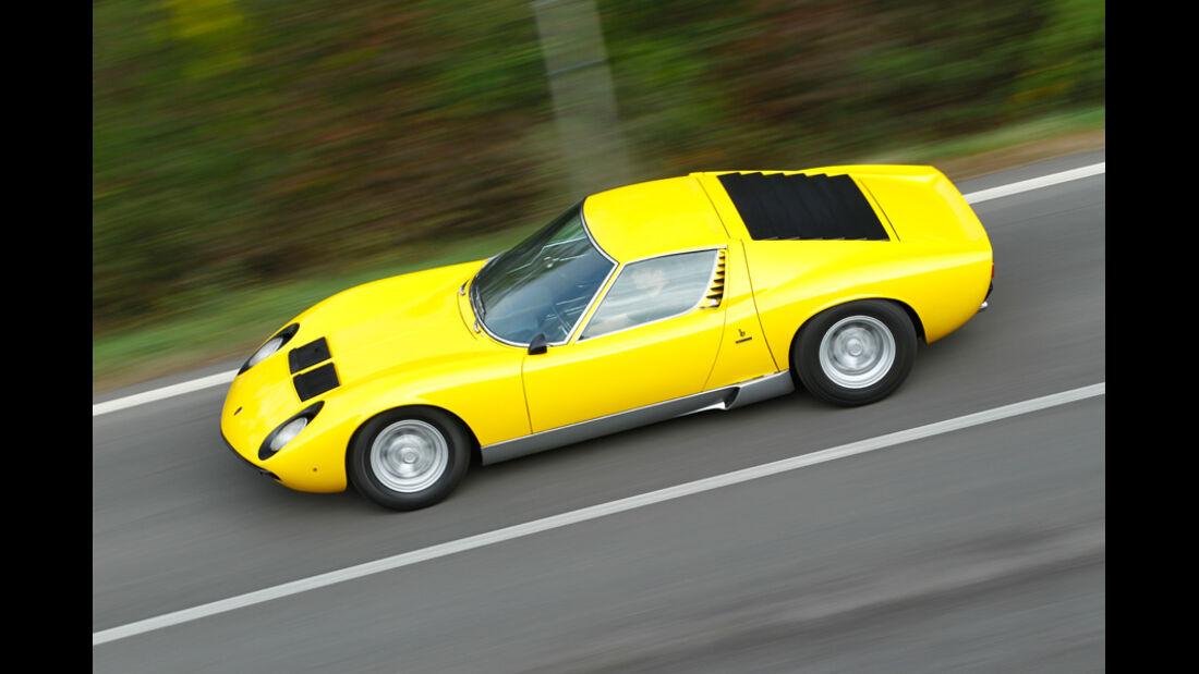 Lamborghini Miurca SV, Seitenansicht, Überlandfahrt