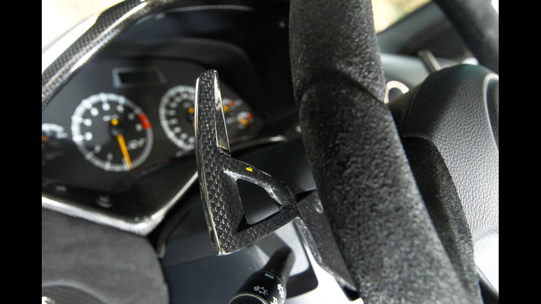 Lamborghini Murcielago SV, Lenkrad, Klappschalter, Detail