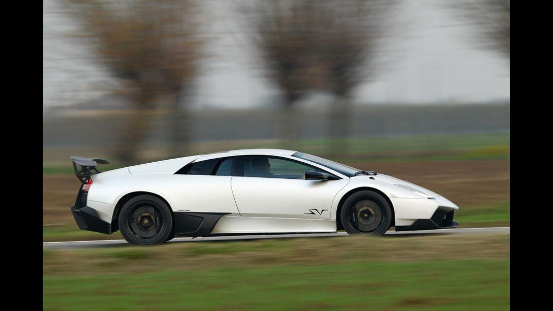 Lamborghini Murcielago SV, Seitenansicht, Überlandfahrt