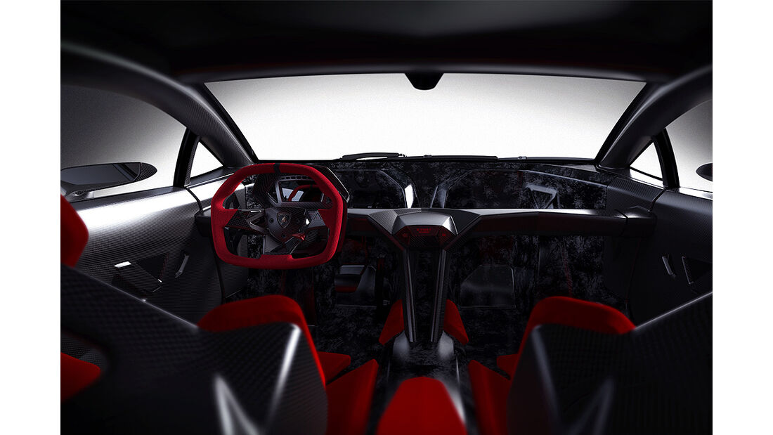 Lamborghini Sesto Elemento, Cockpit, Innenraum