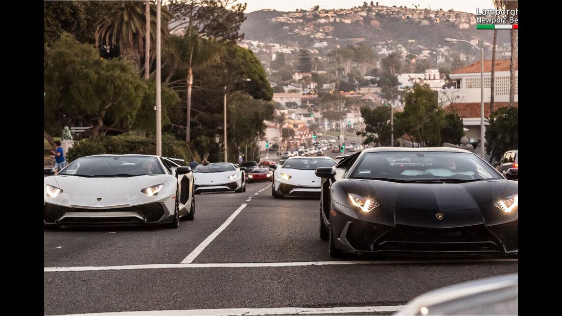 Lamborghini-Treffen Newport Beach 2016