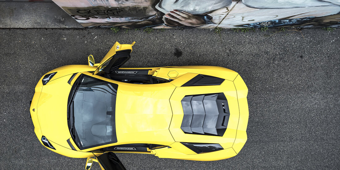 Lamborgini Aventador S, Dach