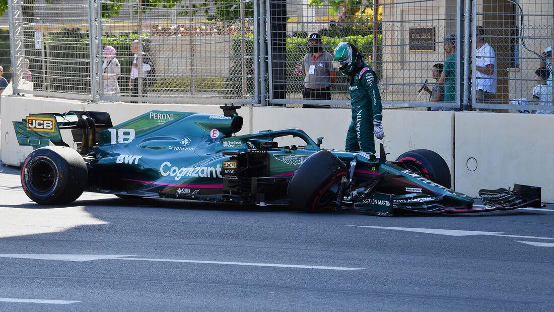 Lance Stroll - Aston Martin - Formel 1 - GP Aserbaidschan - Baku - Samstag - 5.6.2021