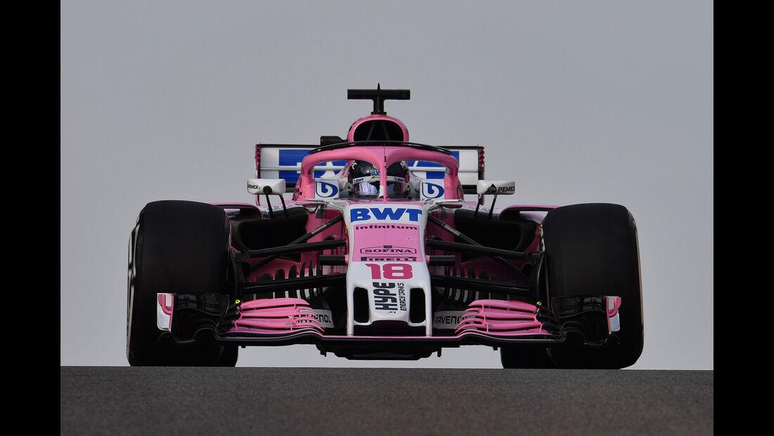 Lance Stroll - Force India - F1-Test - Abu Dhabi - 28. November 2018