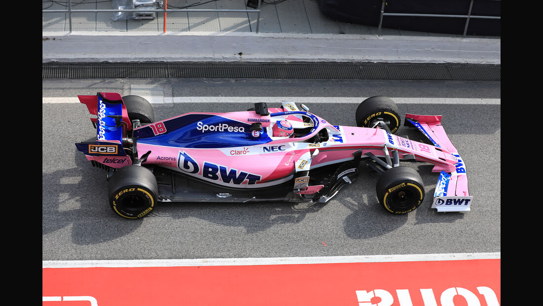 Lance Stroll - Racing Point - Barcelona - F1-Test - 19. Februar 2019