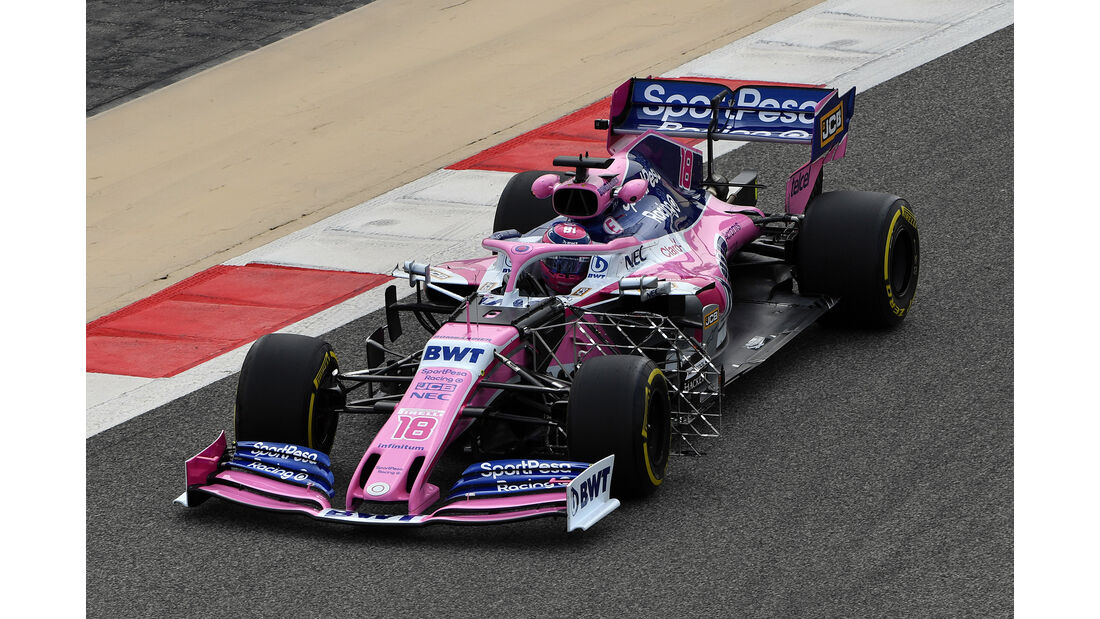 Lance Stroll - Racing Point - F1-Test - Bahrain - 2. April 2019