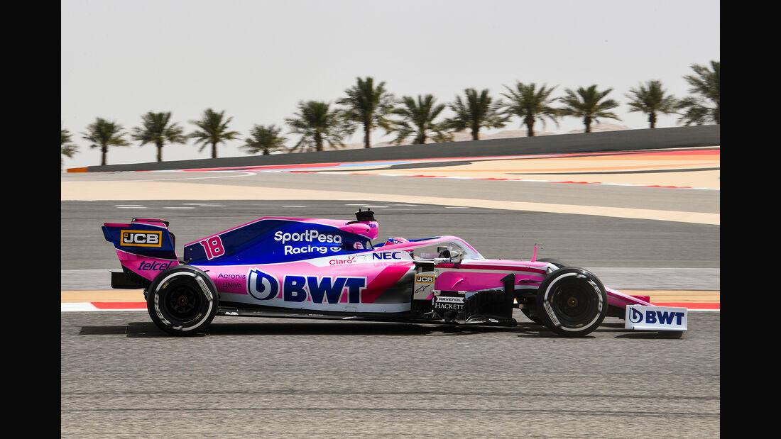 Lance Stroll - Racing Point - F1-Test Bahrain - 3. April 2019