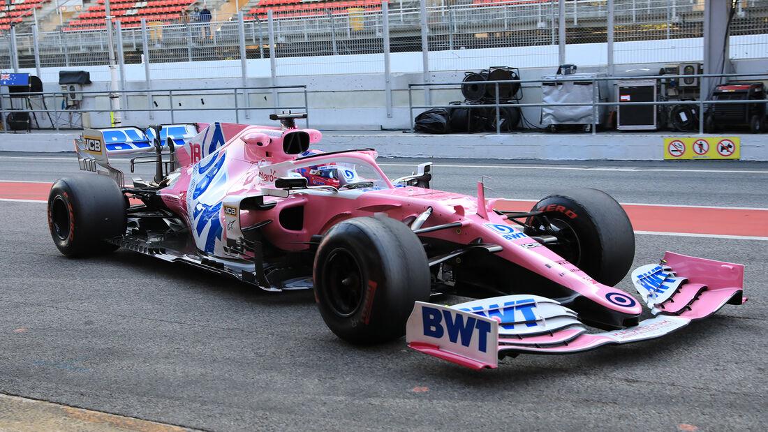 Lance Stroll - Racing Point - F1-Test - Barcelona - 21. Februar 2020