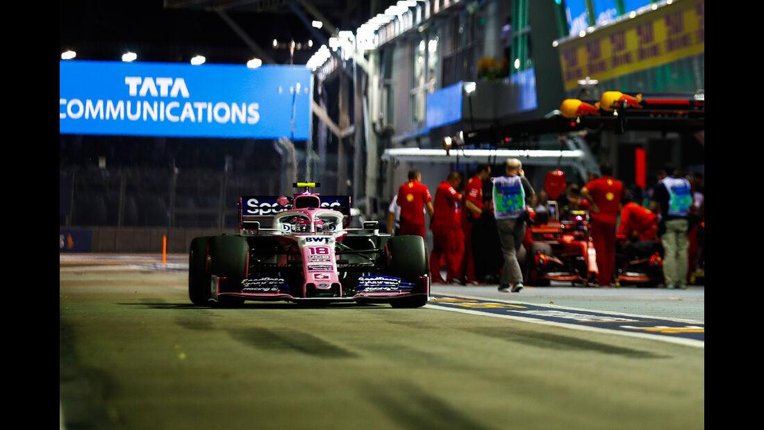 Lance Stroll - Racing Point - GP Singapur - Formel 1 - Freitag - 20.9.2019