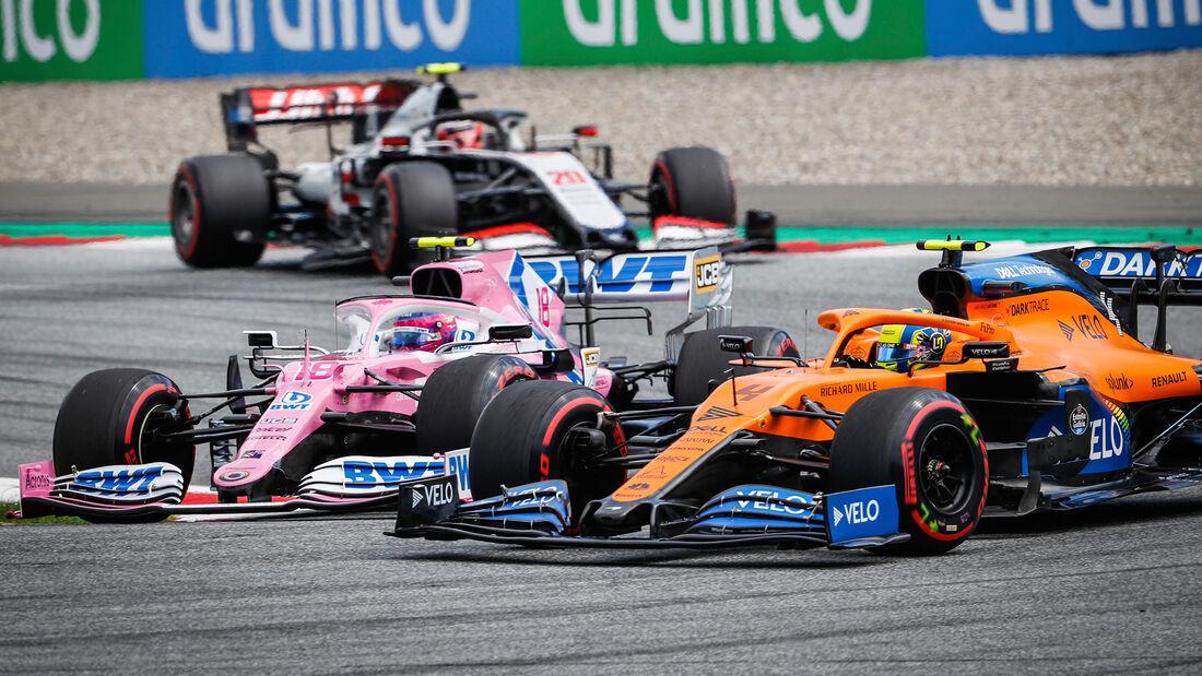 Lance Stroll - Racing Point - Lando Norris - McLaren - GP Steiermark 2020
